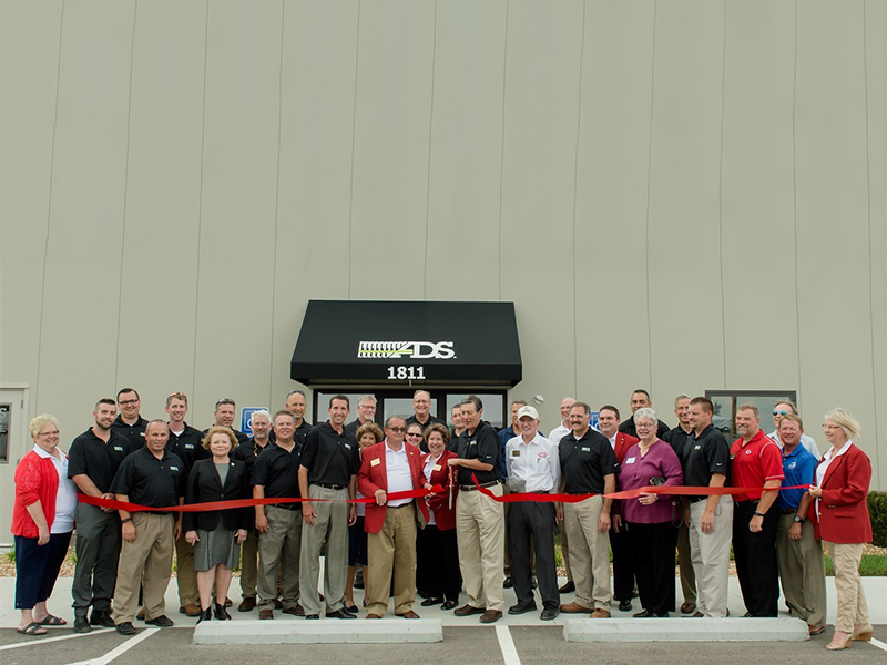 The grand opening ceremony of ADS' plant in Harrisonville, Mo.