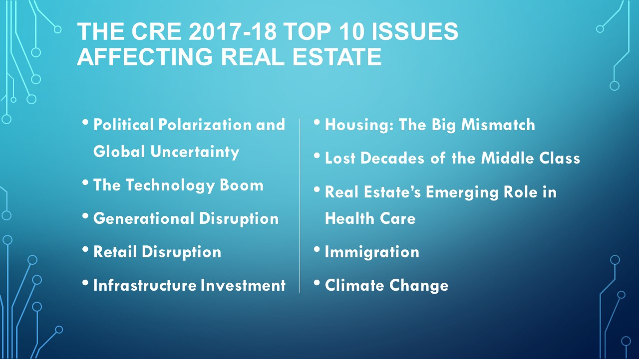 The CRE 2017-18 Top 10 Issues