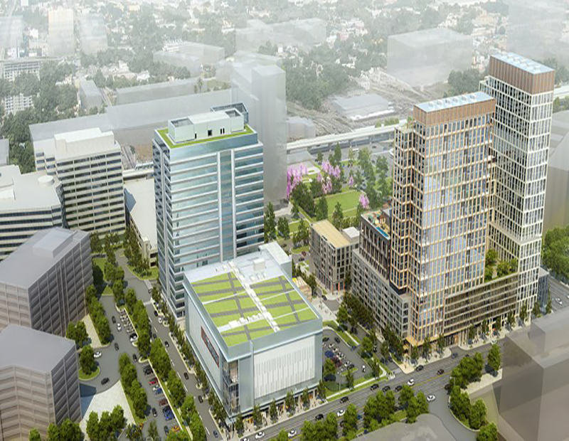 Tysons Corner office and theater rendering