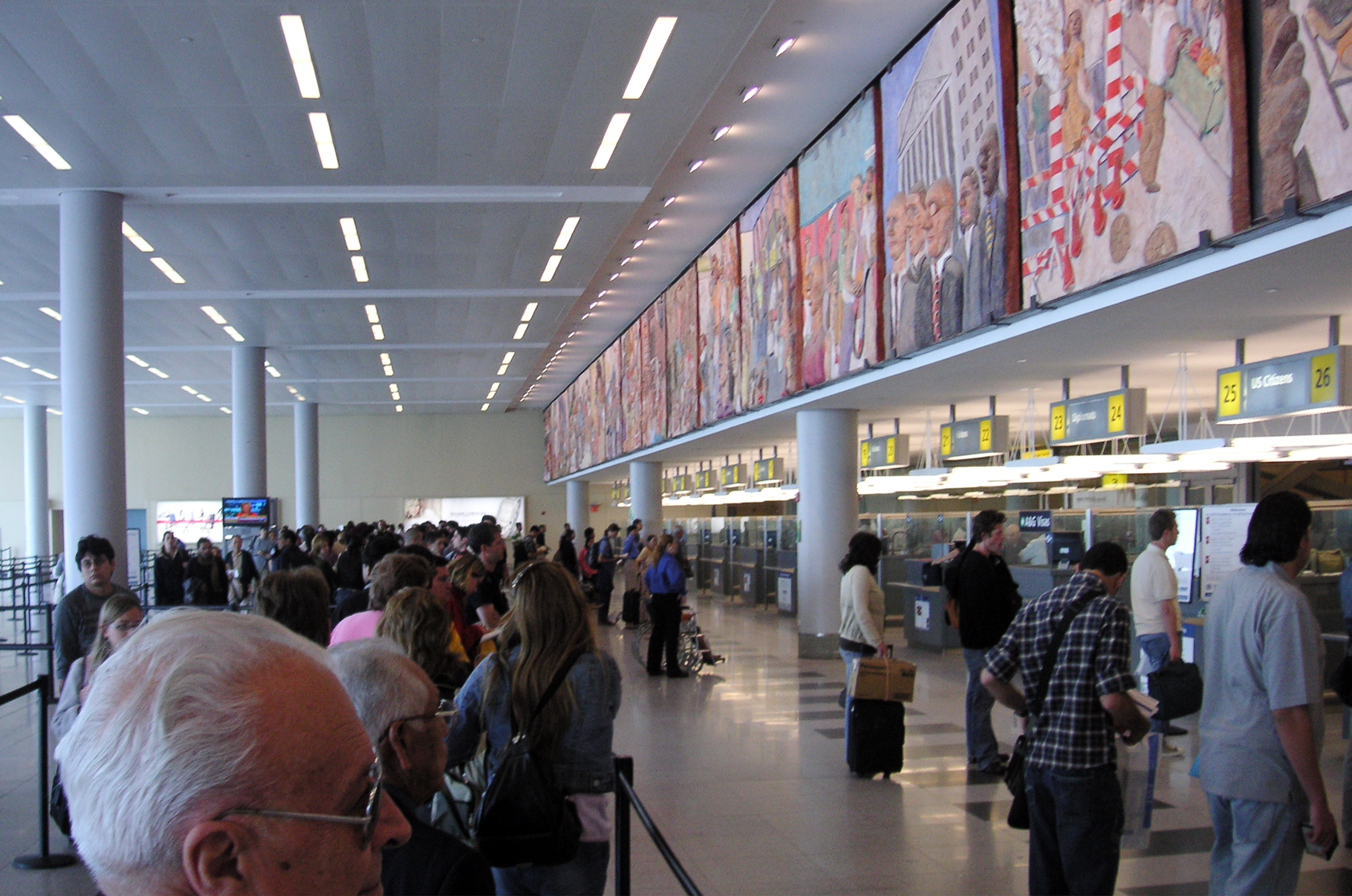U.S. Customs and Border Protection at John F. Kennedy International Airport in Queens, N.Y.