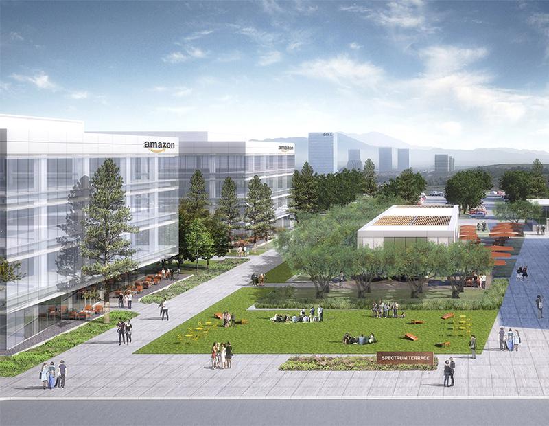 Rendering of Amazon's Irvine Campus at Irvine Spectrum