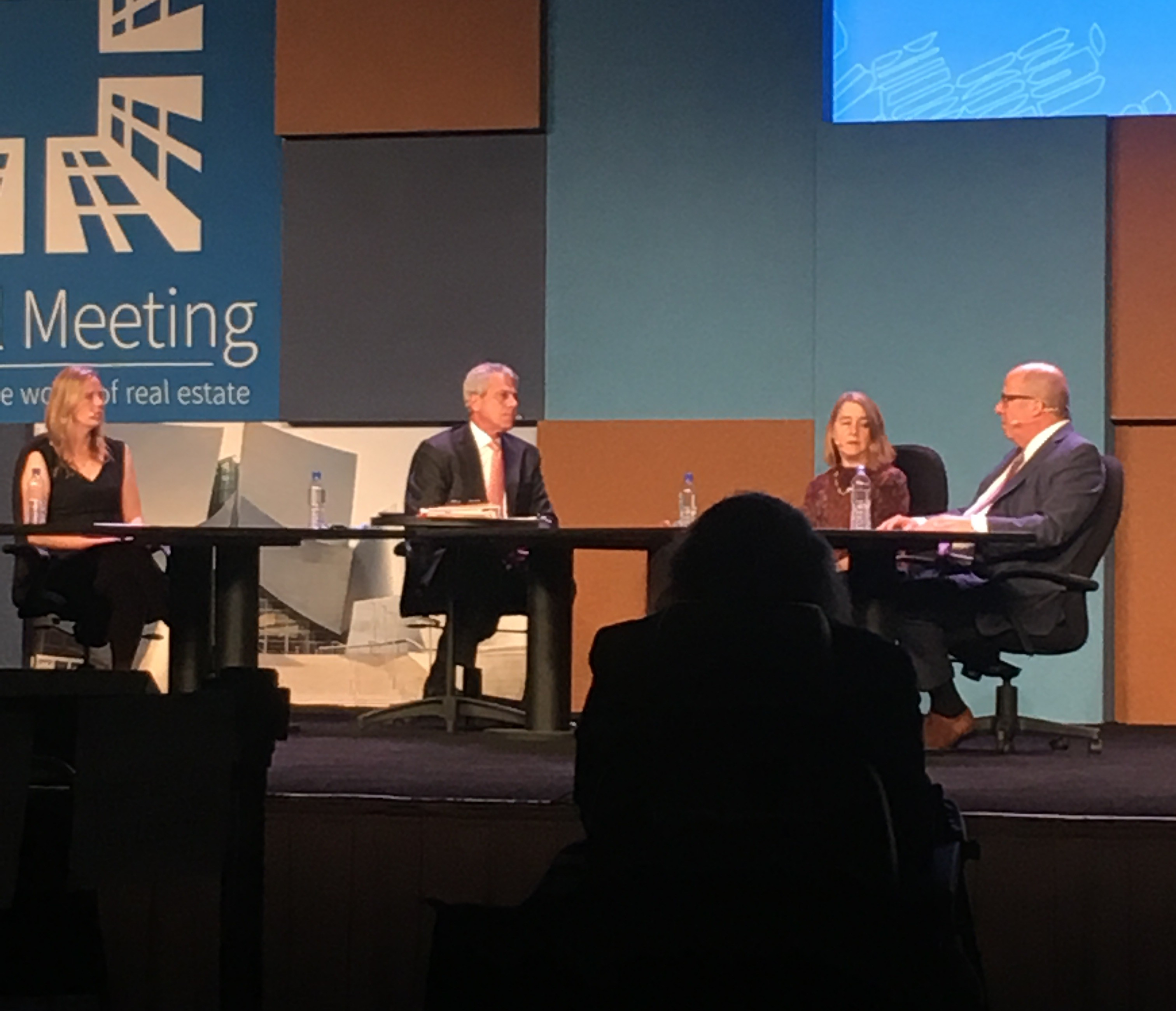 Emerging Trends in Real Estate panel: Kate Bicknell, Forest City; Mitch Roschelle, PwC; Mary Ludgin, Heitman; and Christopher Ward, AECOM