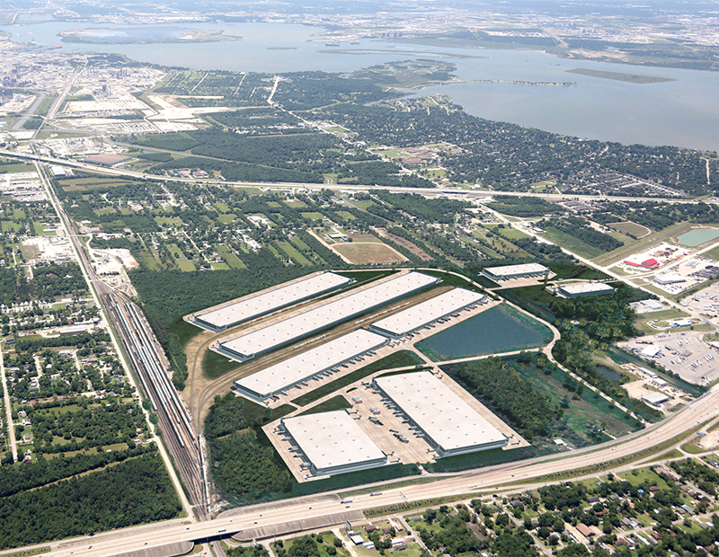Port 10 Logistics Center Aerial Render