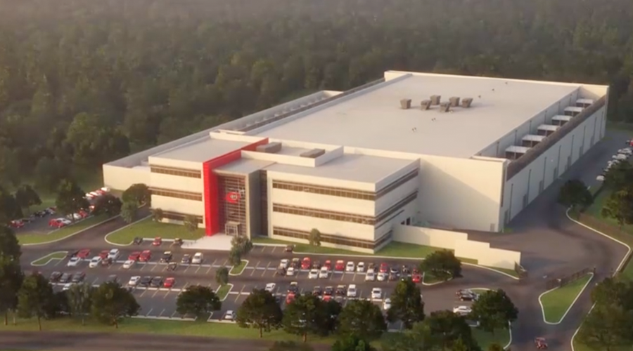 Rendering of QTS' new facility