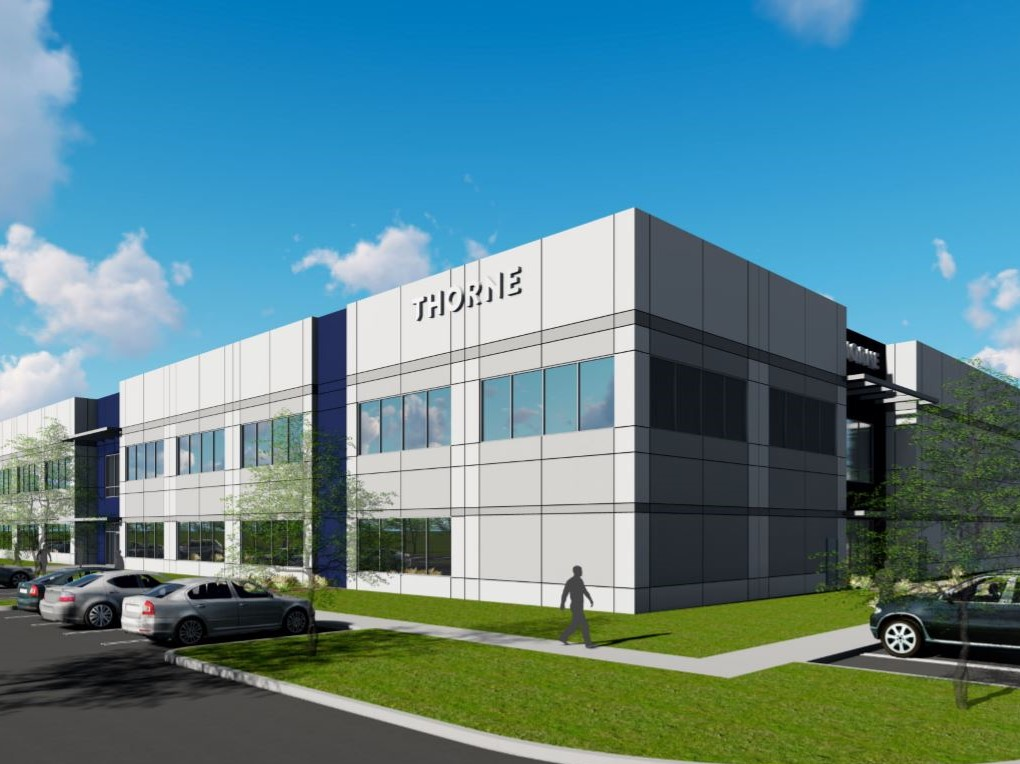 A rendering of Thorne Research's new facility and headquarters in Summerville, S.C.