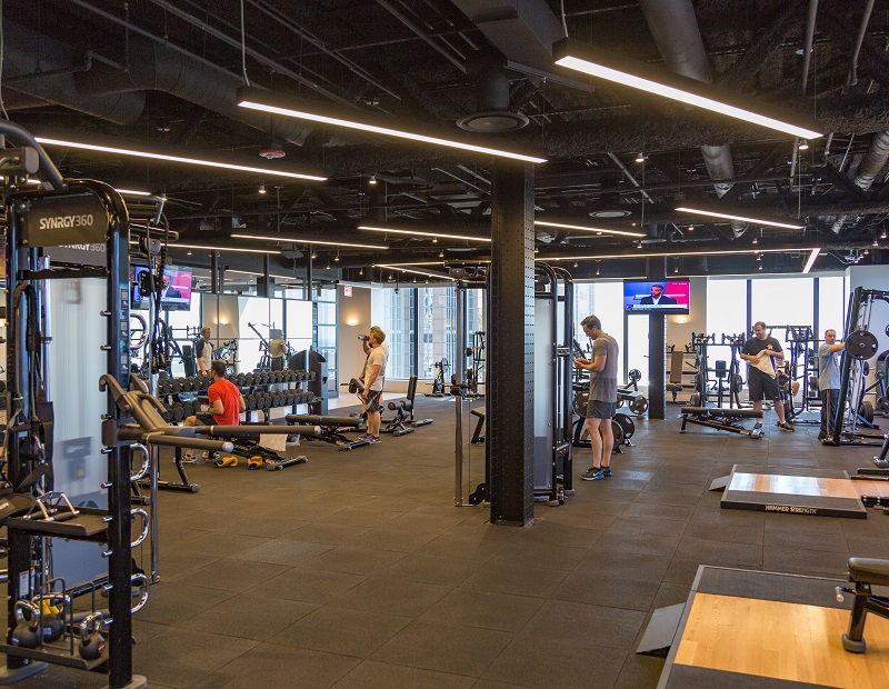 The new gym at Willis Tower's 33rd floor