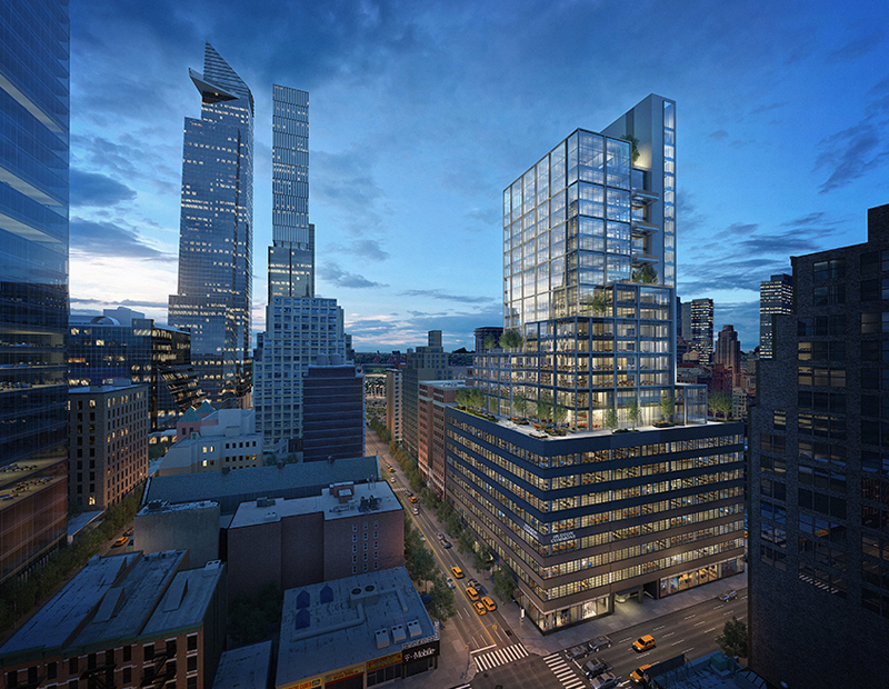 Rendering of Hudson Commons at 441 Ninth Ave.
