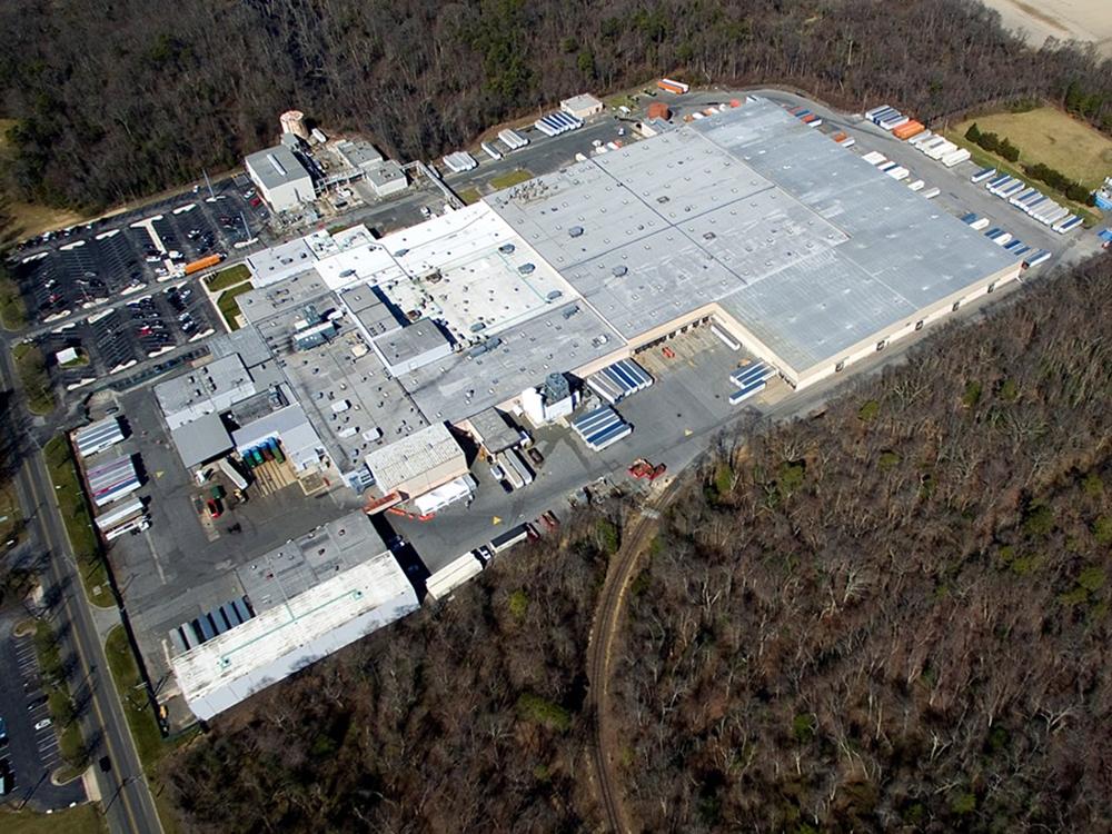 Aerial view of 500 W. Elmer Road, Vineland, N.J.