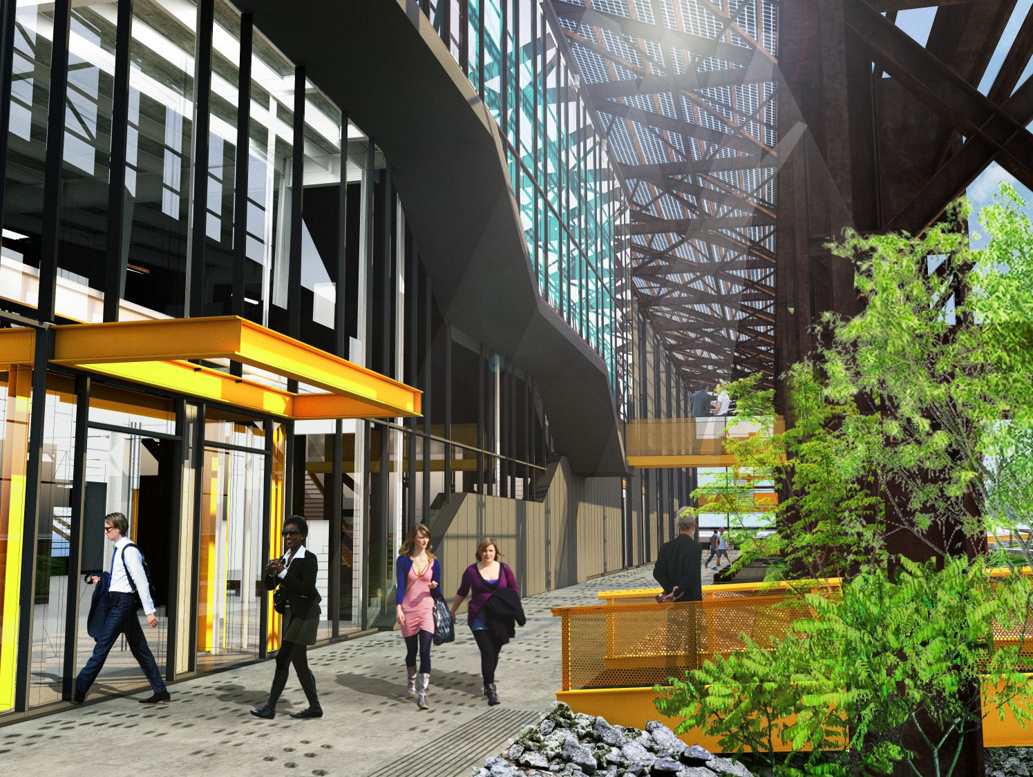 Rendering of manufacturing hub in Mill 19 Credit: MSR Design, Ten X Ten and R3A