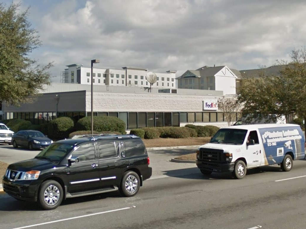 The FedEx building in North Charleston, S.C.