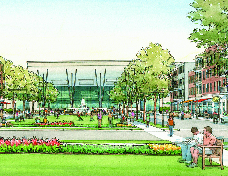 Troy Town Center renderings © 2016 Gibbs Planning Group Inc.