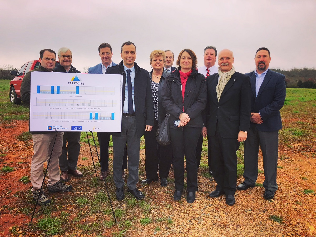 Development team on site at Mooresville Business Park East