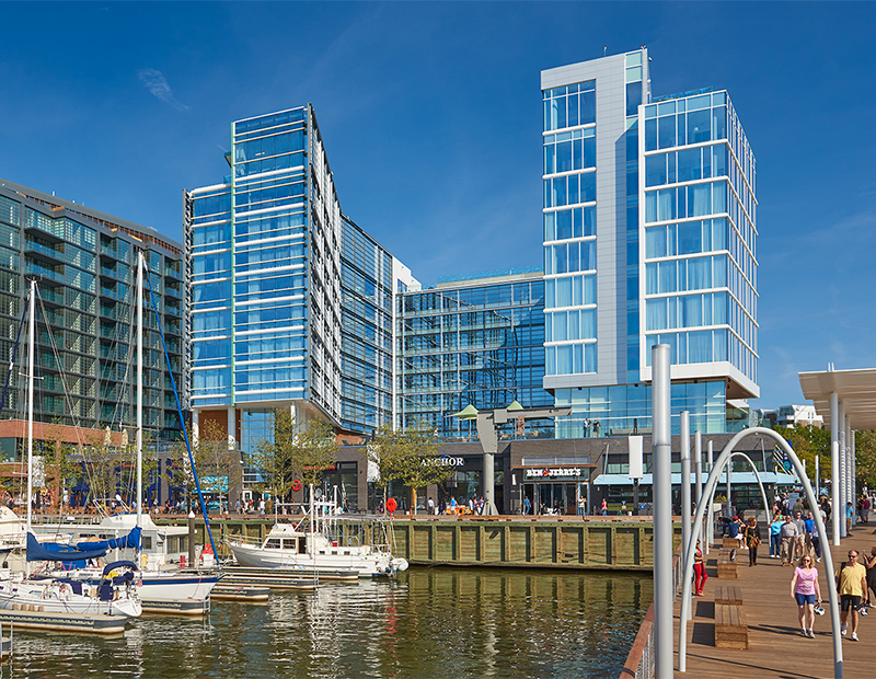 The Wharf – Parcel 5 Hotels (Image courtesy of Donohoe Construction Co.)