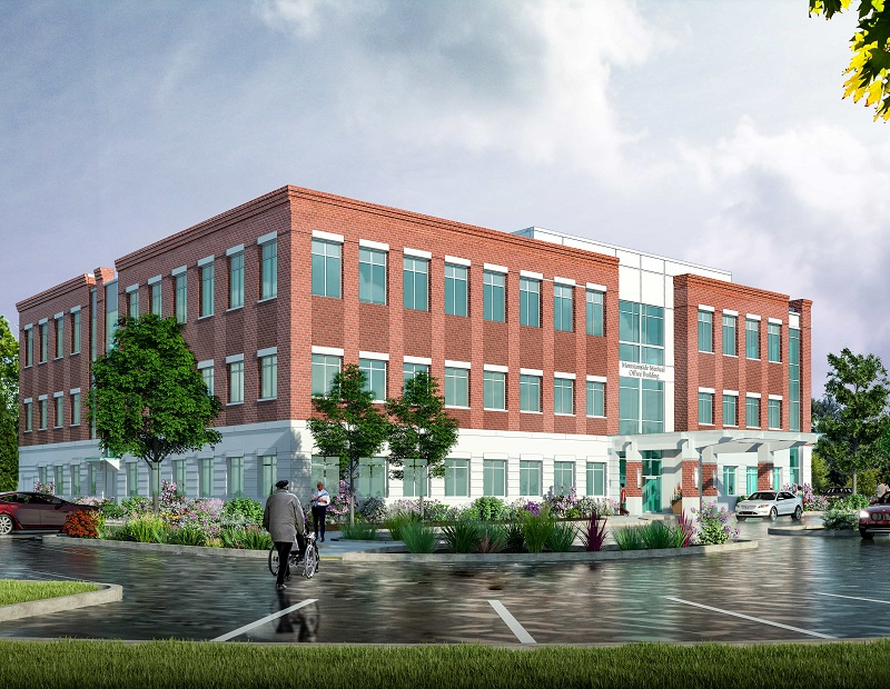 Rendering of the planned medical office building at 1 Bay Ave.