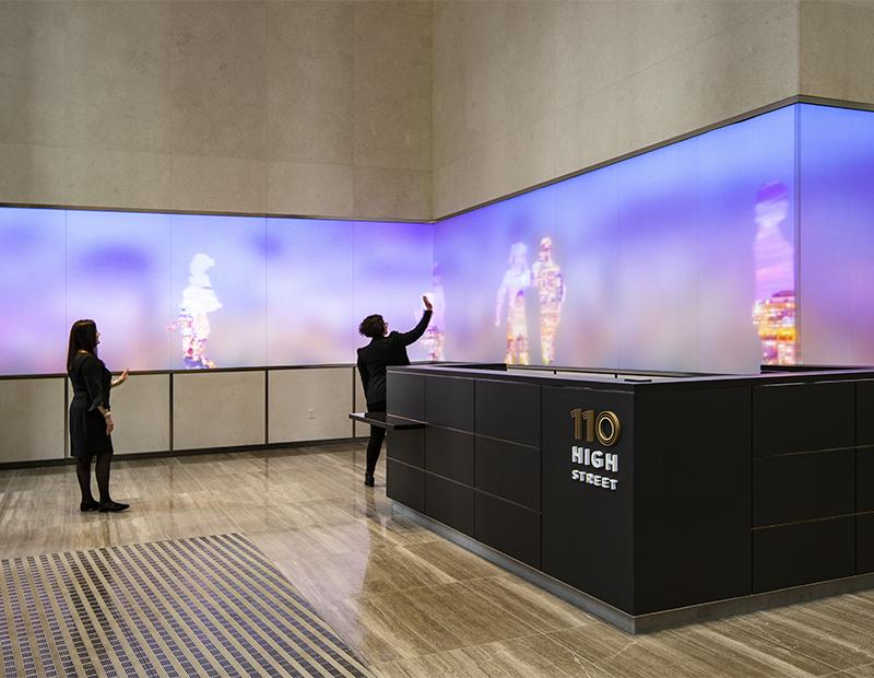 110 High St. lobby