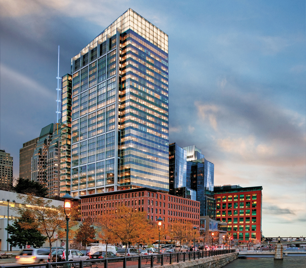In 2012, Boston Properties led with the first green skyscraper in Boston, the 1.1 million square foot mixed-use Atlantic Wharf, which achieved LEED Platinum certification.