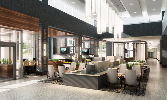Rendering of Hilton Plainfield Indianapolis Airport