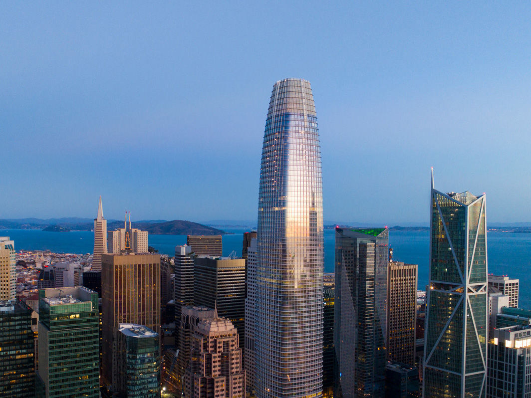 Boston Properties' LEED Platinum Salesforce Tower in San Francisco is currently the highest LEED-rated skyscraper in California.