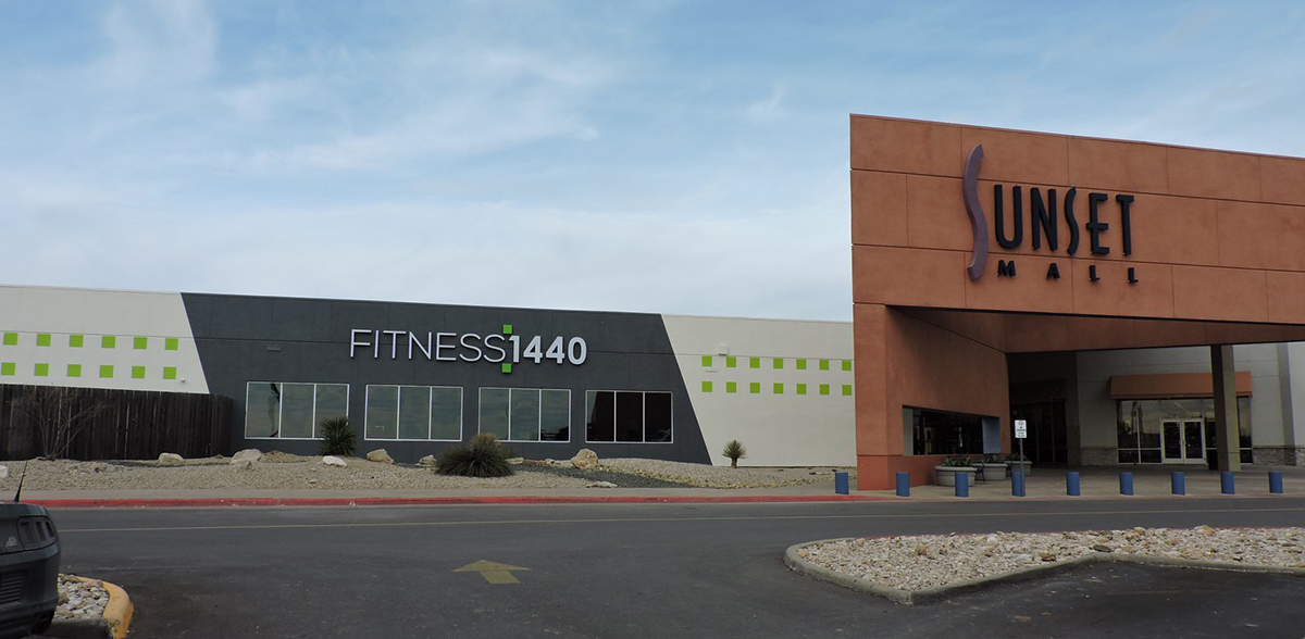 Sunset Mall in San Angelo, Texas, recently added a fitness tenant to its roster of 60+ retailers. Image courtesy of JLL.