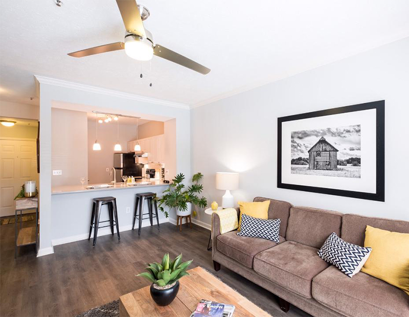 An apartment for rent in Nashville, Tenn., available through CorpHousing Group.