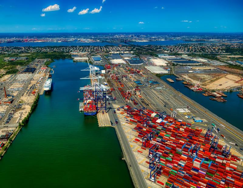 Port of New York and New Jersey. Image via Pixabay