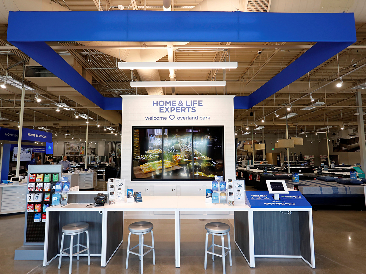 Retailers and investors are focusing on smaller stores with higher revenue-per-square-foot targets. Sears Home & Life stores feature smaller formats and specialize in appliances and mattresses. Photo courtesy of Sears Holdings