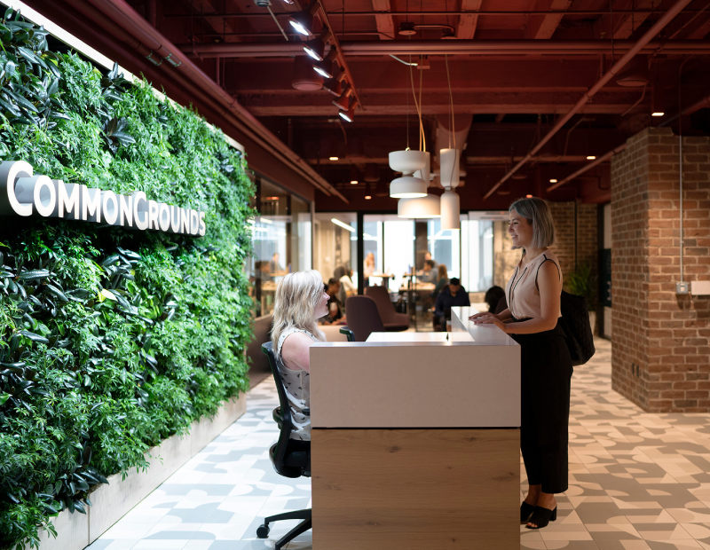 CommonGrounds Minneapolis Skyway Workplac. Image courtesy of CommonGrounds Workplace
