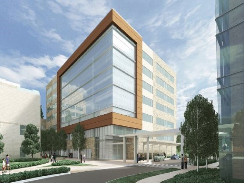Rendering of the medical pavilion at White Oak Medical Center. Image courtesy of Trammell Crow
