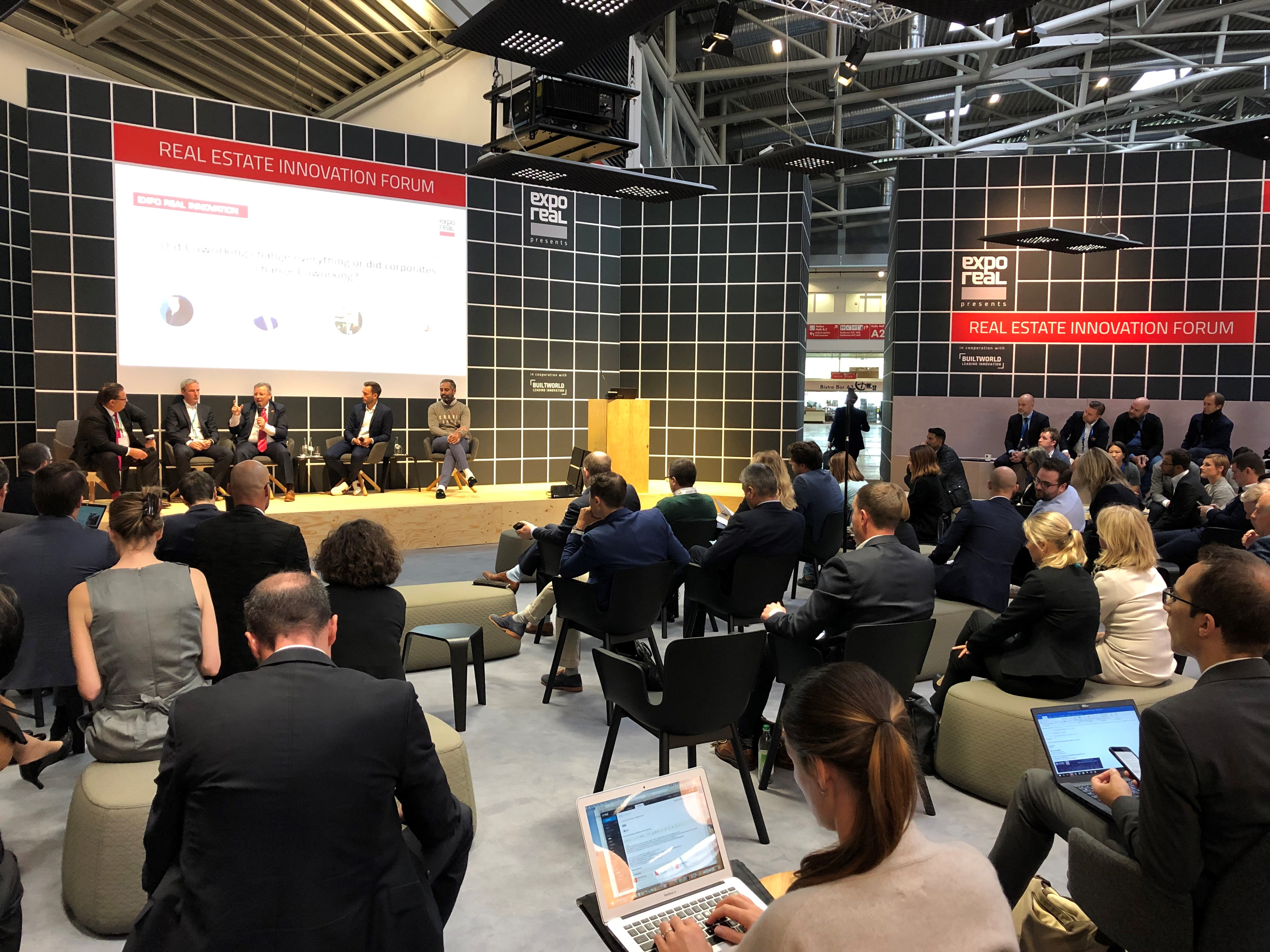 """""""Did coworking change everything or did corporates change coworking?"""" panel at Expo Real 2019"""
