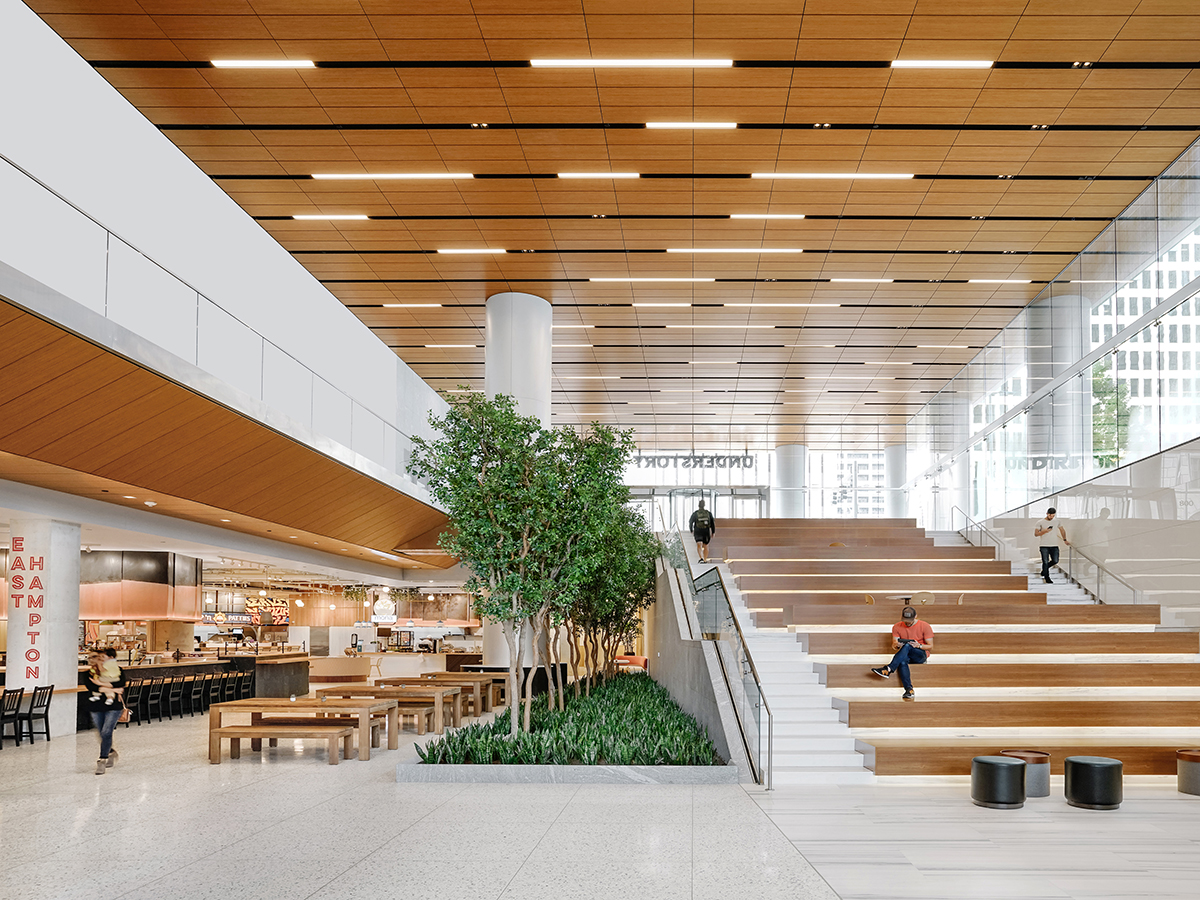 Amenity spaces help Bank of America Tower tenants attract and retain top talent. Image courtesy of Skanska