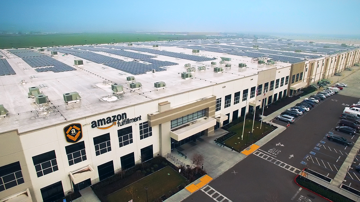 Double-digit growth in online shopping is fueling demand for huge industrial facilities. Ecommerce titan Amazon runs more than 110 fulfillment centers in North America, some of which ship more than one million items per day during holiday rushes. Image courtesy of Amazon