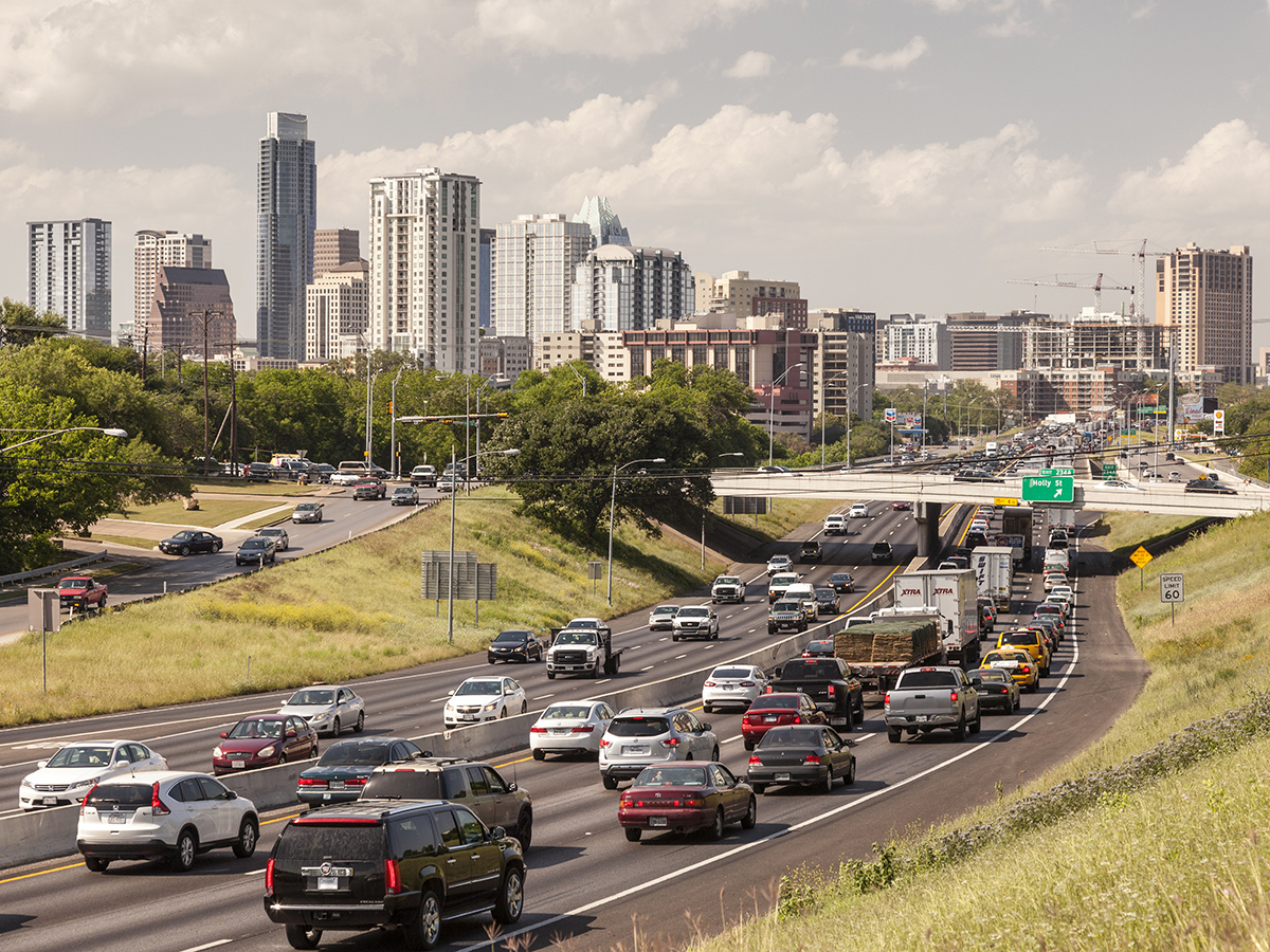 Transit-oriented development can help relieve pressure on the housing supply in booming Sun Belt cities such as Austin, Texas, which leads the nation's metropolitan areas for population growth. Image by typhoonski/iStockphoto.com