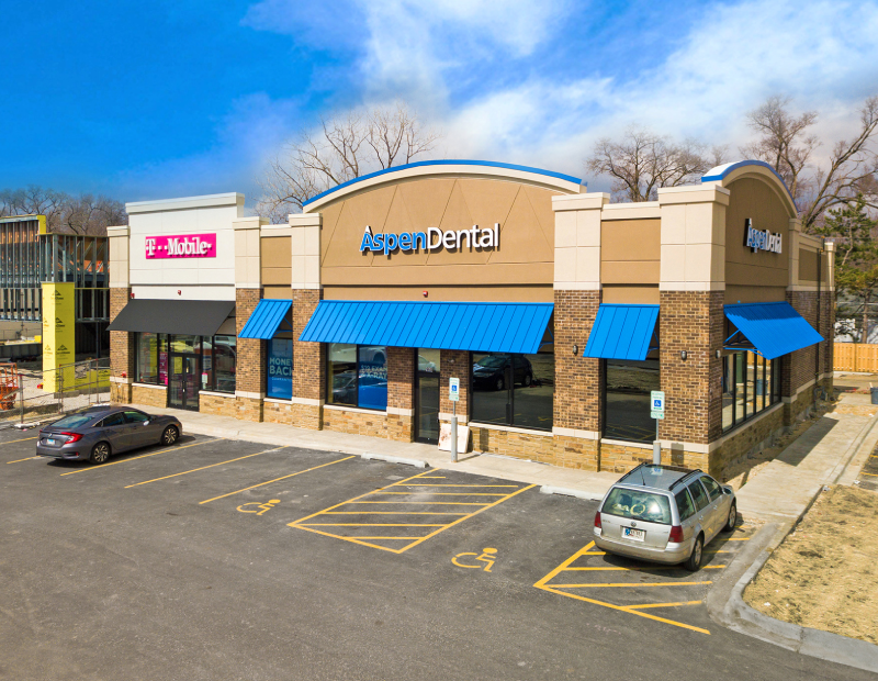 Aspen Dental and T-Mobile. Image courtesy of Hanley Investment Group