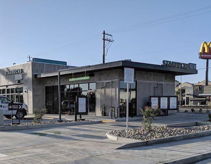 Starbucks Fresno. Image courtesy of Hanley Investment Group