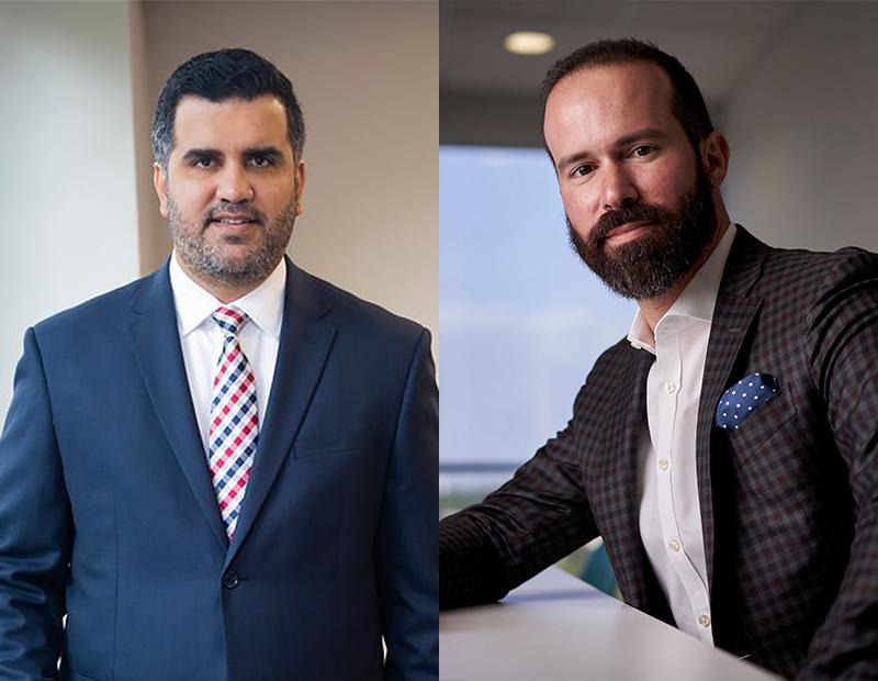 (Left to right) Sebastian Jaramillo, Luis Gazitua. Images courtesy of Wolfe Pincavage and JAG Insurance Group