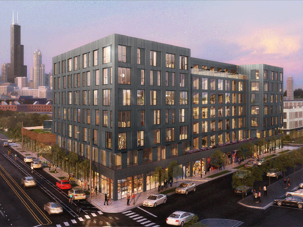 Origin Investments has partnered with Cedar Street Investments to develop the $64.5 million Pilsen Gateway, a 202-unit apartment project in Chicago's Pilsen neighborhood. Origin Investments provided some $16.5 million in equity through its QOZ Fund, which is focused on new developments in qualified opportunity zones. Photo courtesy of Origin Investments.