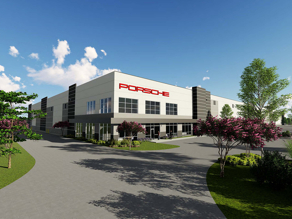 Camp Creek 4850 is a 210,180-square-foot distribution center for Porsche Cars North America in Atlanta, developed by Duke Realty Corp., courtesy of Duke Realty Corp.
