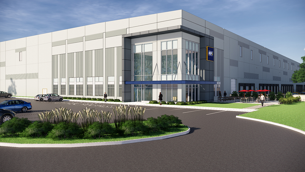 Central Logistics Park 100 in Myerstown, Penn., is a 615,600-square-foot build-to-suite warehouse for tire distributor Max Finkelstein, Inc., developed by Duke Realty Corp. Project has been completed. Courtesy of Duke Realty Corp.