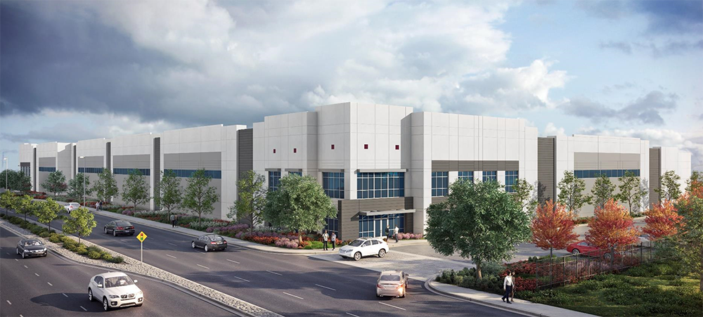 With COVID-19 in mind, Oakmont Industrial Group is including high-tech touchless office features at 1236 Airport Drive, a 127,220-square-foot industrial facility under construction in Ontario, Calif. Image courtesy of DAUM Commercial Real Estate