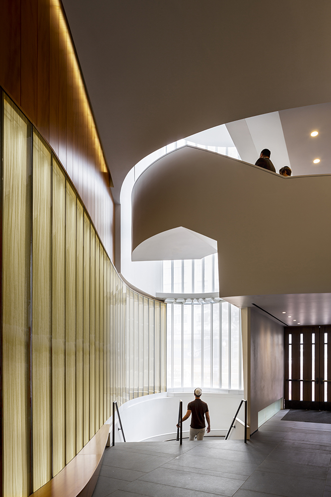 Ruddy's firm won several awards for its innovative and thoughtful design of Lincoln Square Synagogue on the Upper West Side, a commission she called her most memorable. Photo by David Sundberg/ESTO_Courtesy of CetraRuddy