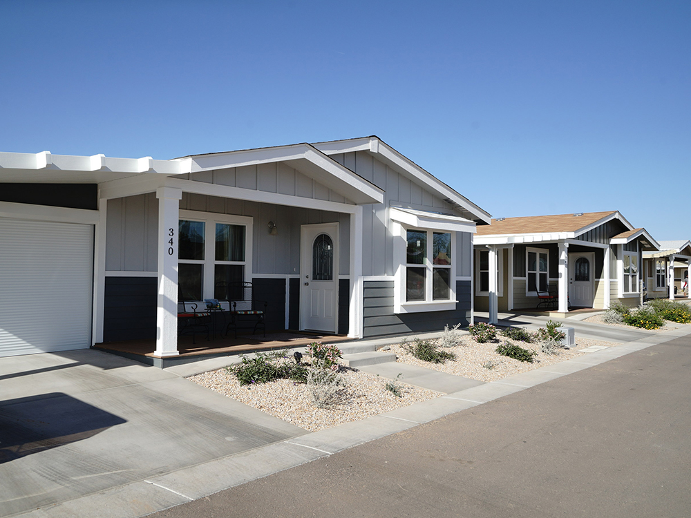 A shortage of affordable housing in the U.S. has buoyed demand for manufactured housing communities, which comprise about 9 percent of new single-family construction starts, according to data from the National Low-Income Housing Coalition. Image courtesy of myMHcommunity.com