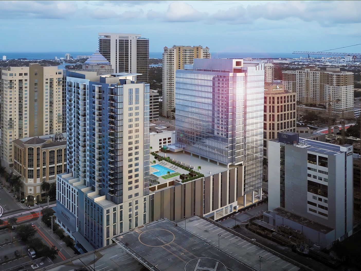 The Main Las Olas. Image courtesy of Stiles Group and Shorenstein.