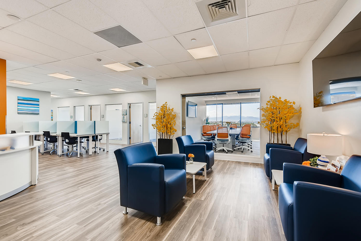 """""""Many of our locations are already at pre-COVID levels in terms of revenue,"""" said Office Evolution CEO and founder Mark Hemmeter. The coworking franchisor continues to expand in suburbs and small towns, such as Northglenn, Colo., north of Denver. Image courtesy of Office Evolution"""