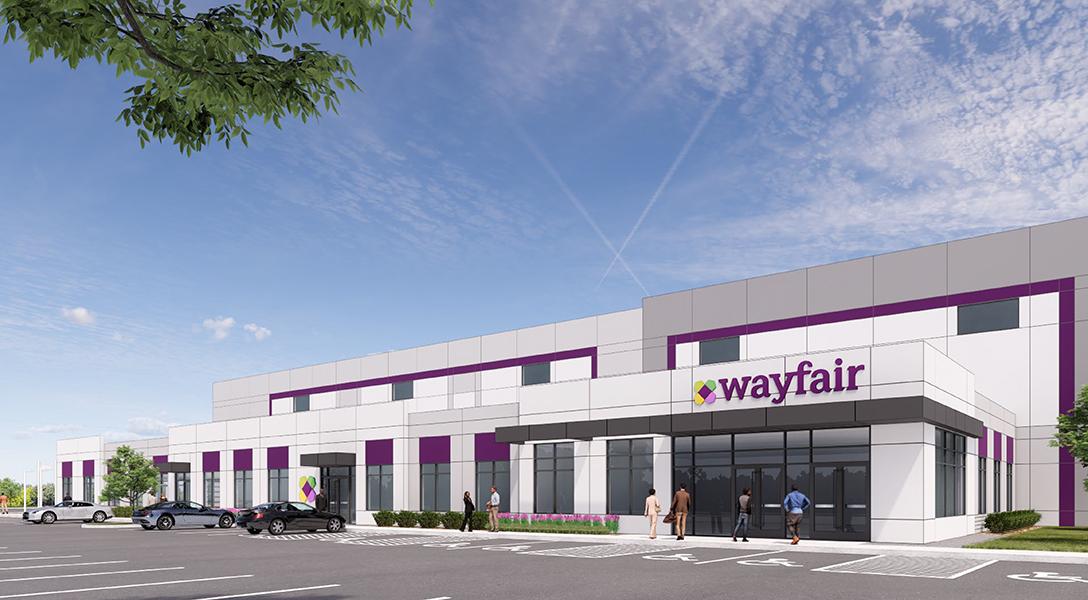 Wayfair development at the Airport Logistics Center in Romeoville, Ill.