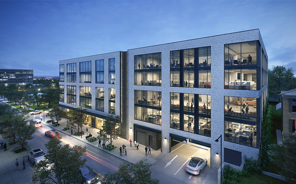 701 Rio is positioned to appeal to technology and professional services tenants in Austin's booming economy, which saw 2.4 percent growth in office-using jobs in the 12 months through February 2021. Rendering courtesy of JLL