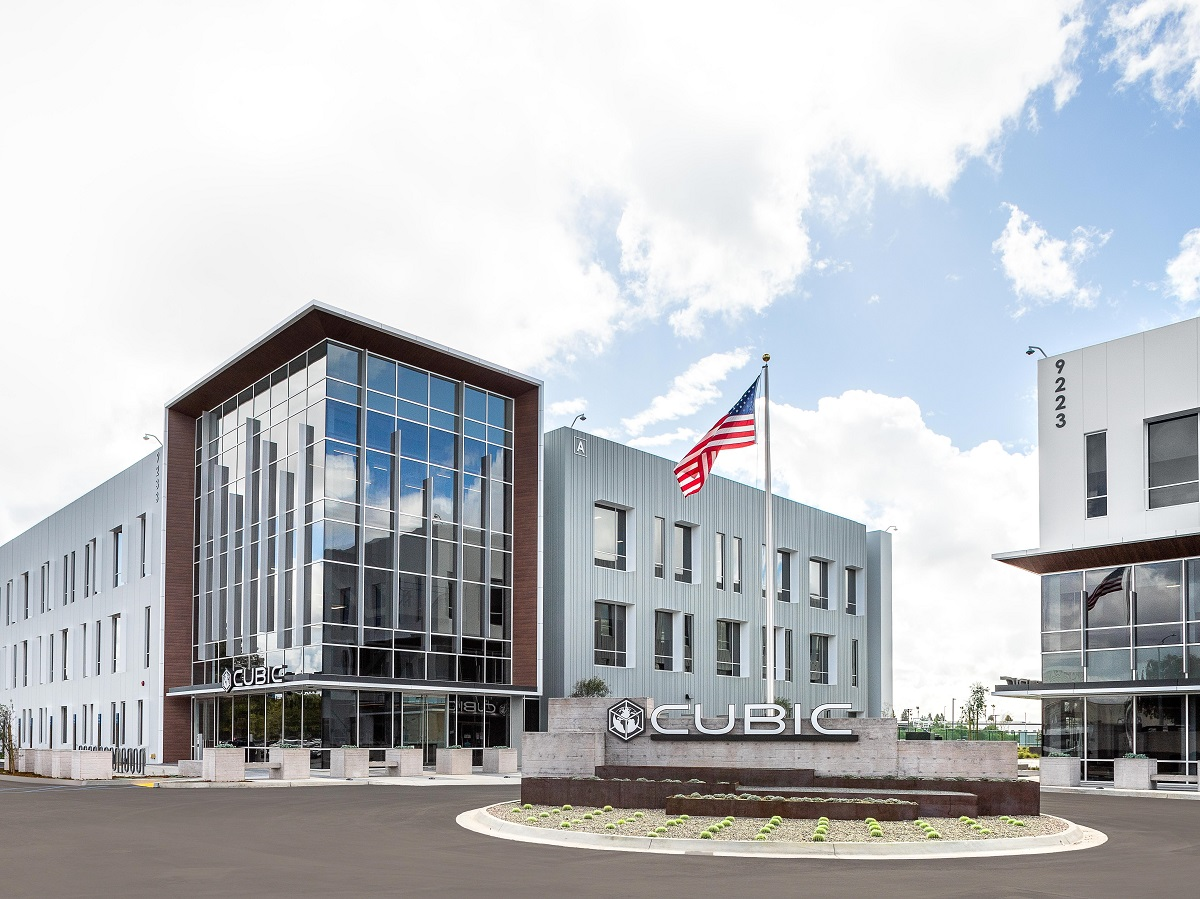 Cubic Corp.'s new headquarters. Image courtesy of Cisterra Development