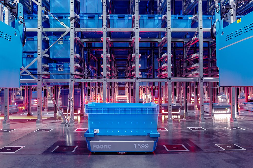 Fabric's micro-fulfillment centers, like this new facility in Brooklyn, N.Y., take up a fraction of the space of traditional automated sites, which tend to be about 10 to 20 times the size. Image courtesy of Fabric