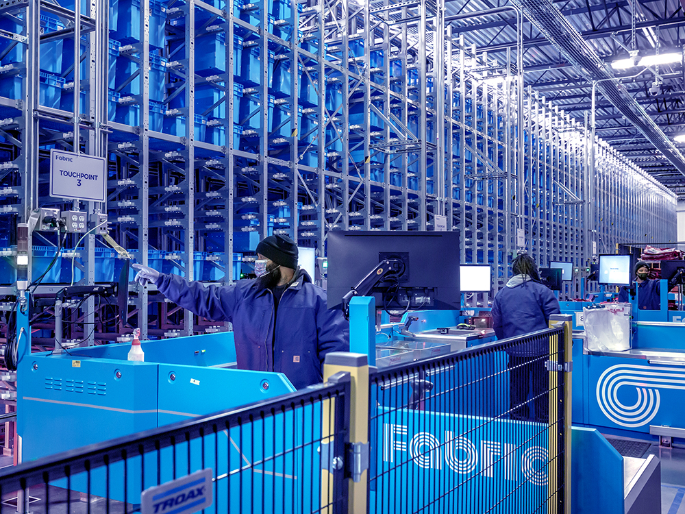 """""""It will shortly become the norm for the majority of general merchandise products, that your options are to pick in-store, or to automate with giant vending machines like Fabric,"""" says Steve Hornyak, the company's chief commercial officer. Image courtesy of Fabric"""
