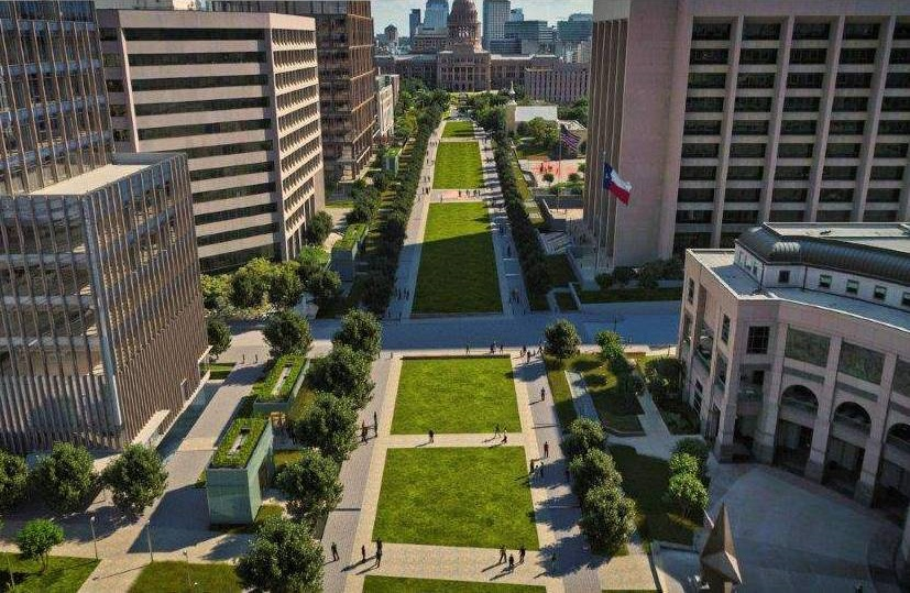 Texas State Capitol Complex. Rendering courtesy of Kirksey Architecture
